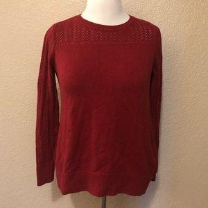 Loft Burgundy Long Sleeve Sweater Size Medium